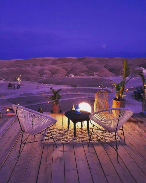 agafay desert camp night