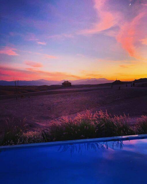 agafay desert camp sunset