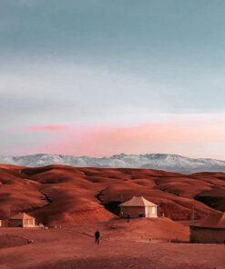 agafay desert luxury camp view
