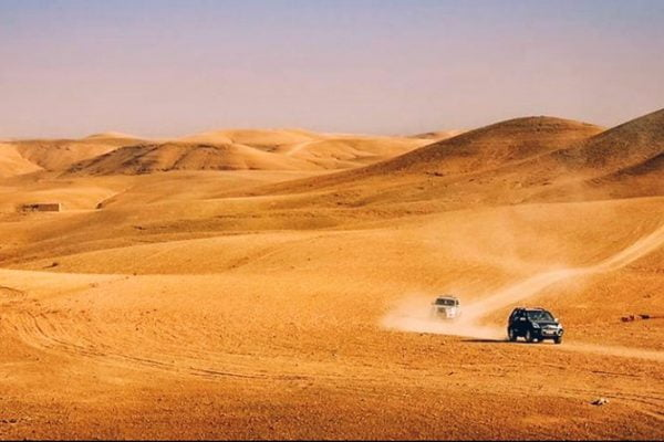 How far is agafay desert from Marrakech?
